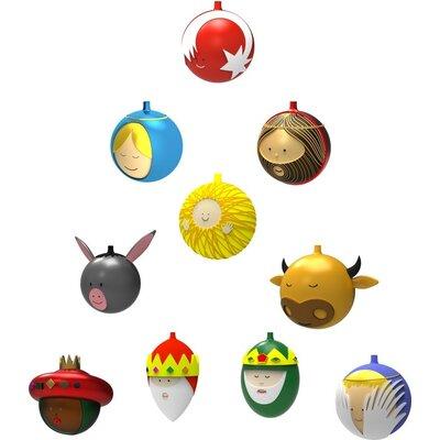 Alessi 10 Piece Baldassarre Ornament Set