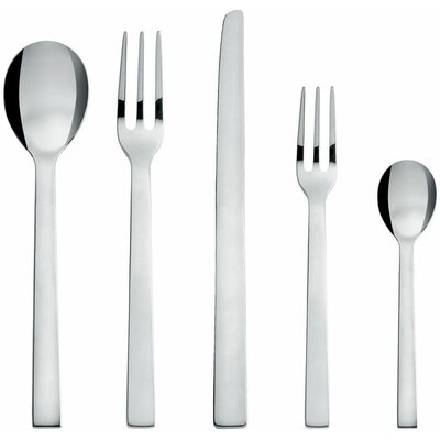 Alessi David Chipperfield Santiago 5 Piece Flatware Set
