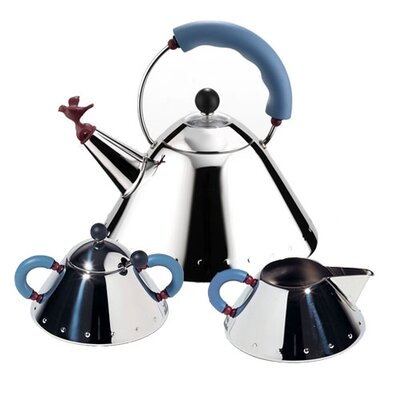 Alessi 9093/96/97 Tea Set by Michael Graves