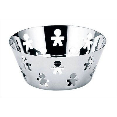 "Alessi Girotondo Round Basket by King Kong - 8.1"" Diameter"