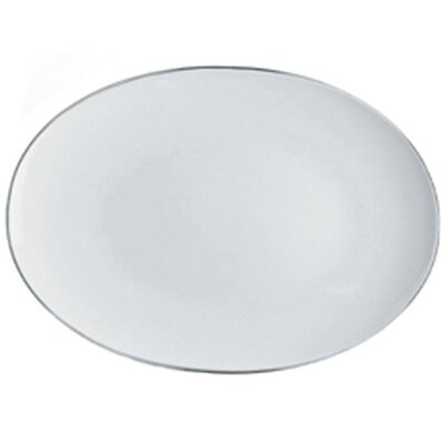 "Alessi Mami Platinum 14.82"" x 10.53"" Oval Serving Plate"