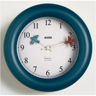 "Alessi 10"" Michael Graves Kitchen Wall Clock"