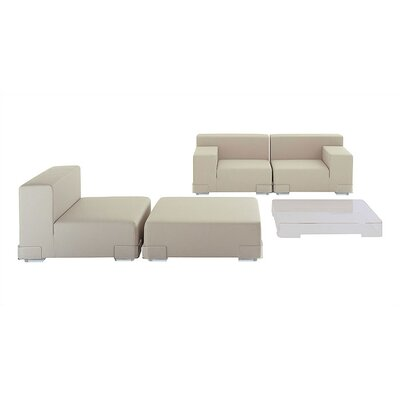Plastics Modular Sofa-Plastics Seat with Backrest