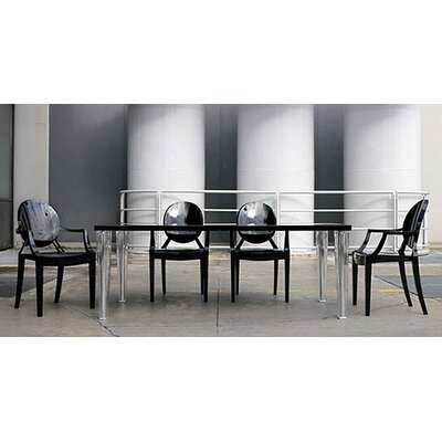 Kartell 5 Piece Top Table and Ghost Chair Dining Set