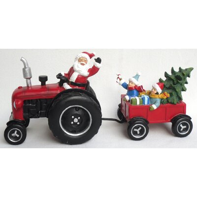 Santa On Tractor Decoration Canada