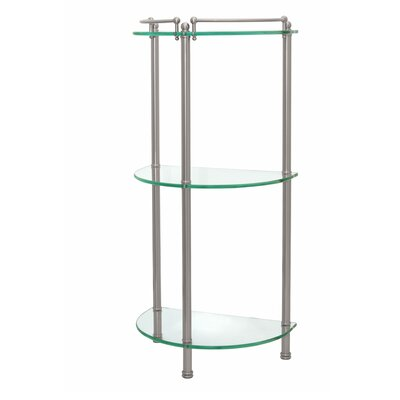 "Gatco Glass Taborets 14"" x 30"" Bathroom Shelf"