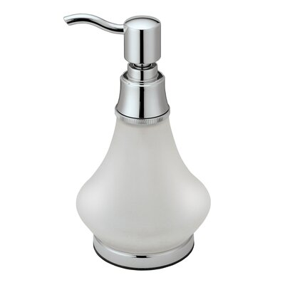 Frosted Glass Soap Dispenser in Chrome