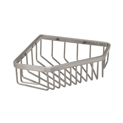 Gatco Corner Shower Basket in Satin Nickel