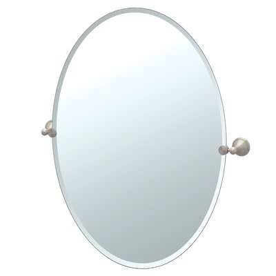 Laurel Ave Tilting Large Oval Wall Mirror (Beveled)