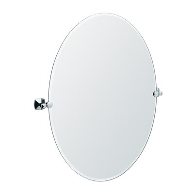Gatco Jewel Large Oval Tilting Mirror