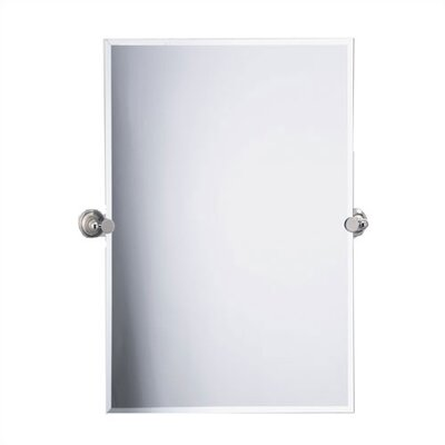 Laurel Avenue Rectangle Mirror in Polished Nickel