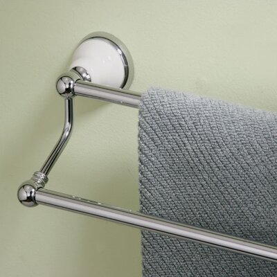 Gatco Petite Franciscan Double Towel Bar in Chrome