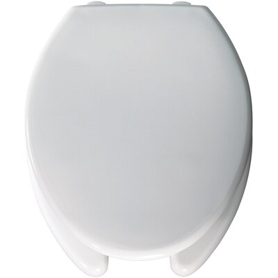 Medic Aid Lift Commercial Open Front Solid Plastic Elongated Toilet Seat