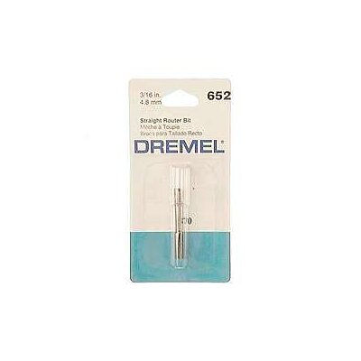 "Dremel 3/16"" Straight Router Bit 652"
