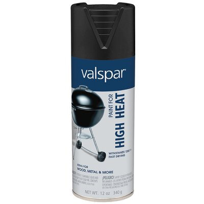 Valspar High Heat Black Spray Paint