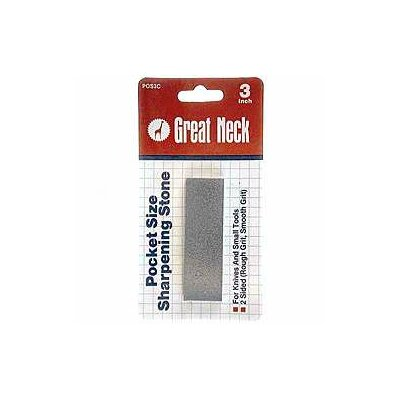 GREAT NECK Oil Stone Pocket Sharpening Stone POS3C