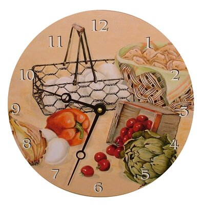 Lexington Studios Recipes Decorative Wall Clock