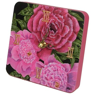 Home and Garden Peony Tiny Times Clock