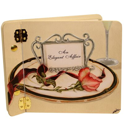 Wedding Table 4 Two Rose Mini Wedding Book Photo Album