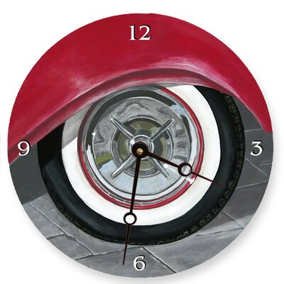 White Wall Tire Round Clock