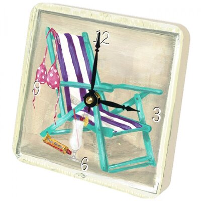 Lexington Studios Beach Chair Tiny Times Clock