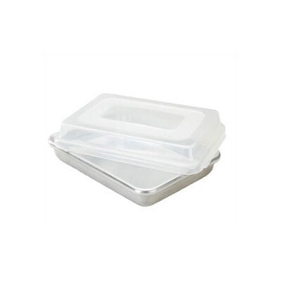 "Nordicware Natural Commercial 13"" Rectangular Cake Pan with Lid"