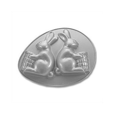 Platinum 3-D Bunny with Basket Cake Pan