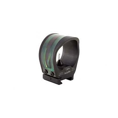 Trijicon AccuPin Dual Illuminated Bow Sight Green Triangle with Rail Grabber Base in Black Matte