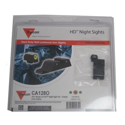 Trijicon Colt Cut HD Night Sight Set with Orange Front Outline