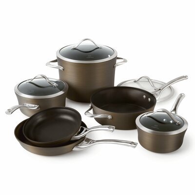 Contemporary Bronze Nonstick 10-pc. Cookware Set