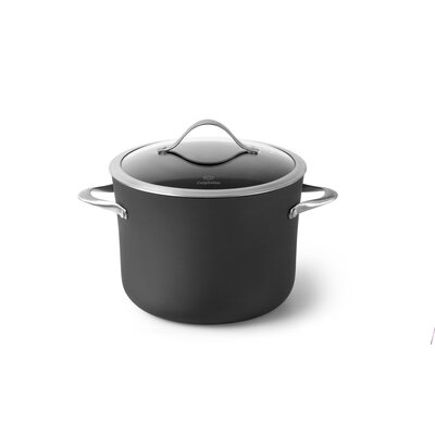 Contemporary Nonstick 8-qt. Stock Pot with Lid