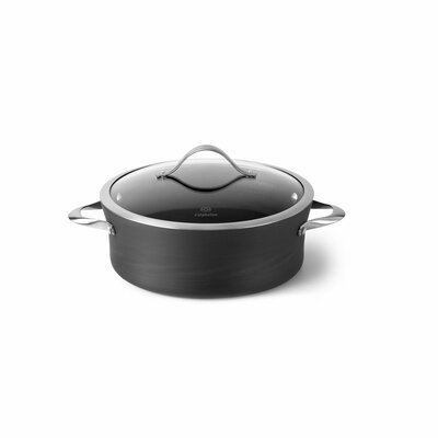 Contemporary Nonstick 5-qt. Saucier with Lid