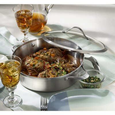 Calphalon Contemporary Stainless Steel 5-qt. Sauteuse with Lid
