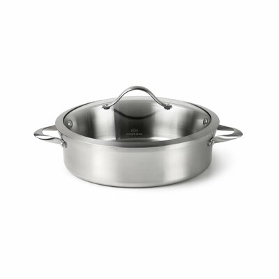 Contemporary Stainless Steel 5-qt. Sauteuse with Lid