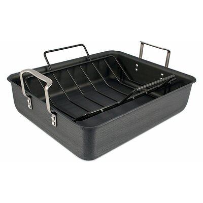 Classic Hard-Anodized Roaster with V-Rack