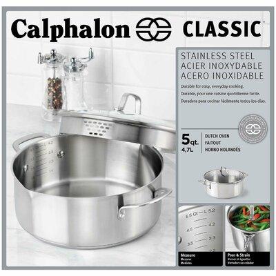 Calphalon Stainless Steel 5-qt. Aluminum Round Dutch Oven