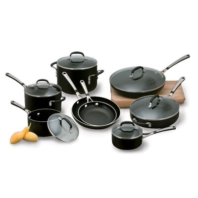 Calphalon Simply Black Enamel 14-Piece Cookware Set