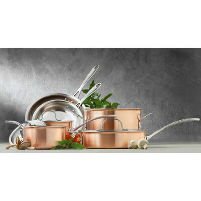 Calphalon 3-Ply Copper 10-Piece Cookware Set