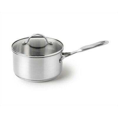Simply Stainless Steel 1-qt. Saucepan with Lid