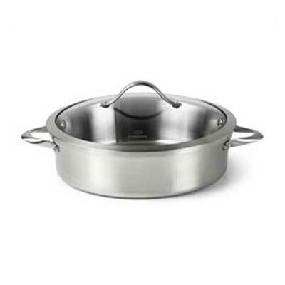 Contemporary Stainless Steel 5-qt. Sauteuse Pan with Lid