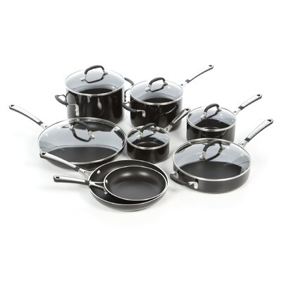 Simply Black Enamel 14-Piece Cookware Set