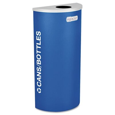 Ex-Cell Kaleidoscope Collection Recycling Receptacle, 8 Gal