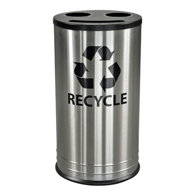 Ex-Cell Three Stream Indoor 13 Gallon Multi Compartment Recycling Bin