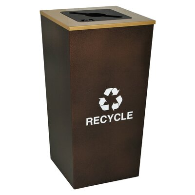 Ex-Cell Metro Indoor 34 Gallon Industrial Recycling Bin