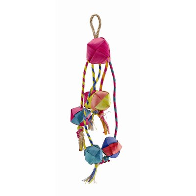 Hagen Living World Nature's Treasure Buri Tassel Small and Medium  Hookbill Bird Toy