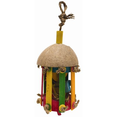 Hagen Living World Nature's Treasure Tiki Hut Forage  Hookbill Bird Toy