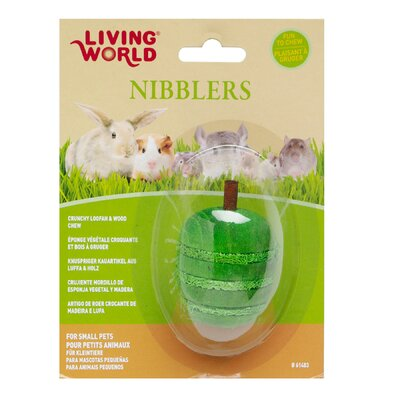 Hagen LW Nibblers Wood/Loofah Apple Small Pet Chew Toy