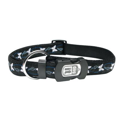 Hagen Dogit Style Butterfly Adjustable Nylon Dog Collar and ID Plate