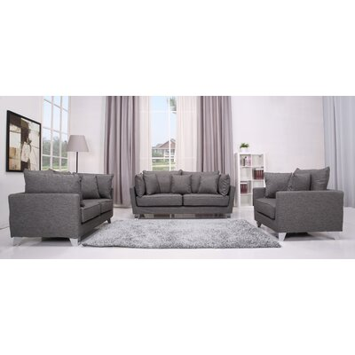 Gold Sparrow Lexington 3 Piece Sofa, Loveseat and Arm Chair Set