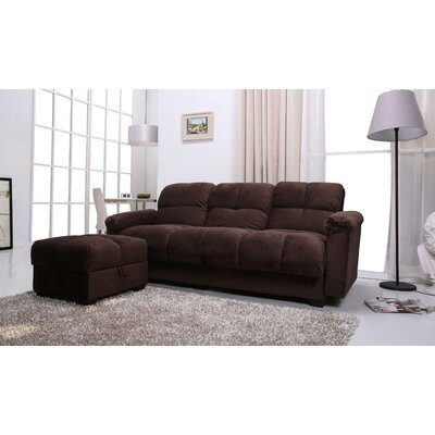 Gold Sparrow Phila Sofa Bed and Ottoman Set